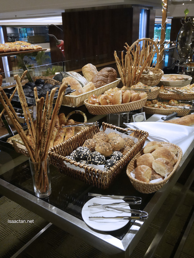 An assortment of breads