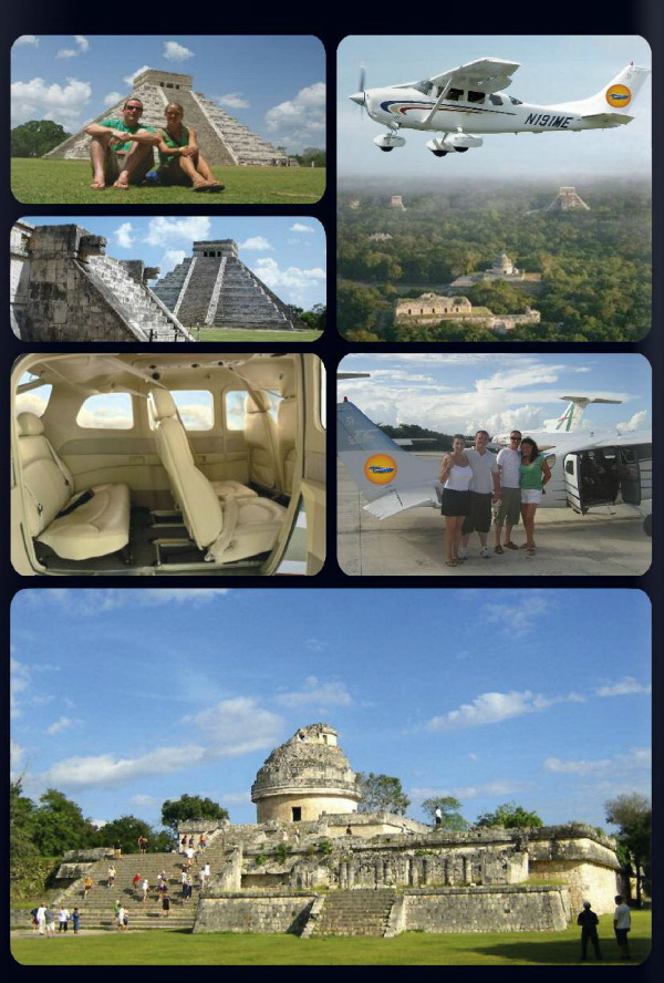 fly of 45 min from Cancun or Playa del Carmen to Chichen Itza