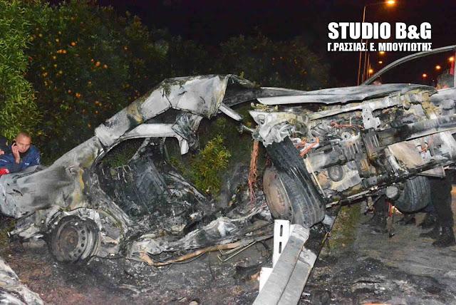 Αργολίδα: Τραγικό τροχαίο δυστύχημα με οδηγό που απανθρακώθηκε στην Ε. Ο. Ναυπλίου  Μυκηνών
