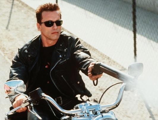 Gambar Jaket Kulit Arnold di Film Terminator