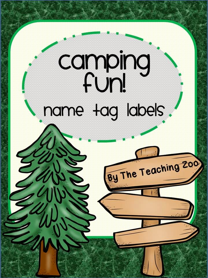http://www.teacherspayteachers.com/Product/Camping-Fun-Name-Tag-Labels-1351081