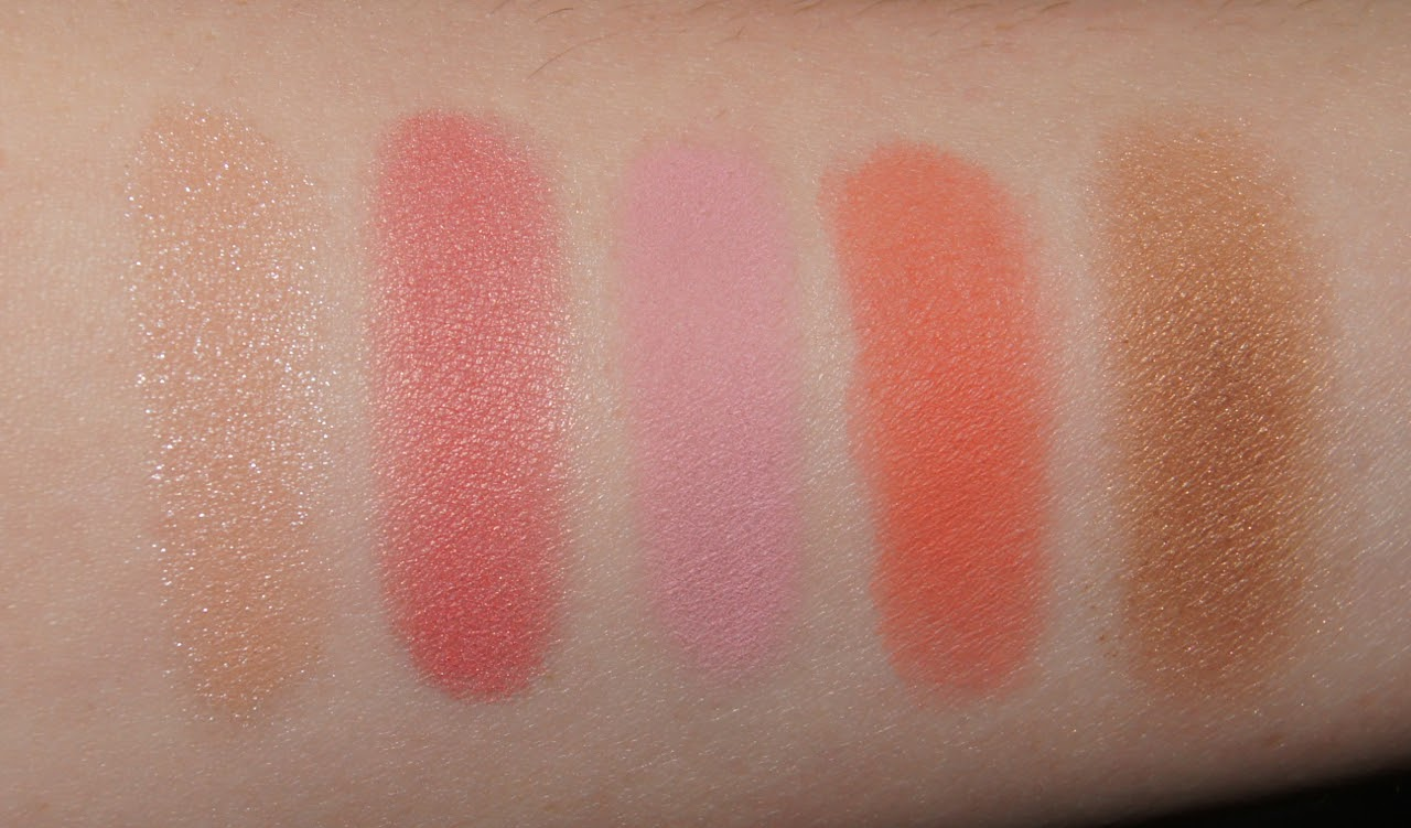 nars virtual domination cheek palette swatches review