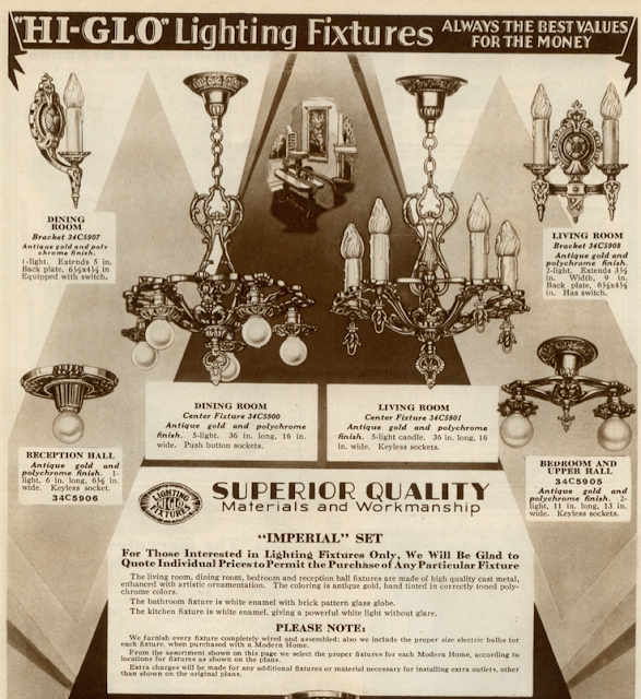 sears catalog vintage chandelier