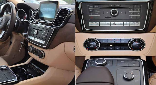 Tựa tay Mercedes GLS 400 4MATIC 2017 được thiết kế nổi bật với rất nhiều tiện ích