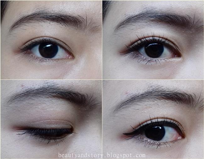 Foto Pertama Bare Eyelashes Kedua Dan Ketiga Menggunakan Wardah EyeXpert Perfect Curl Mascara Setelah Dilentikkan Dengan Eyelash Curler