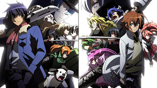 Tapeta Full HD z Akame Ga Kill z Jaegersami oraz Night Raidem