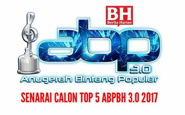 Senarai Penuh Calon Top 5 ABPBH 3.0 2017