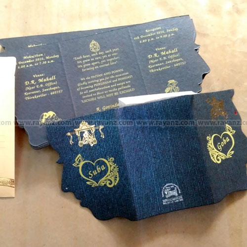 Ready wedding cards with single color printing chennai
