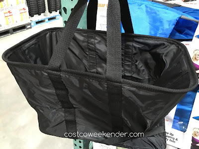 Clevermade SnapBasket Snap Up Shopping/Utility Tote - Store it flat or snap it into place