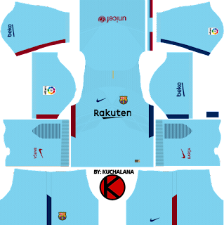 Barcelona Nike away Kits 2017/2018 - Dream League Soccer