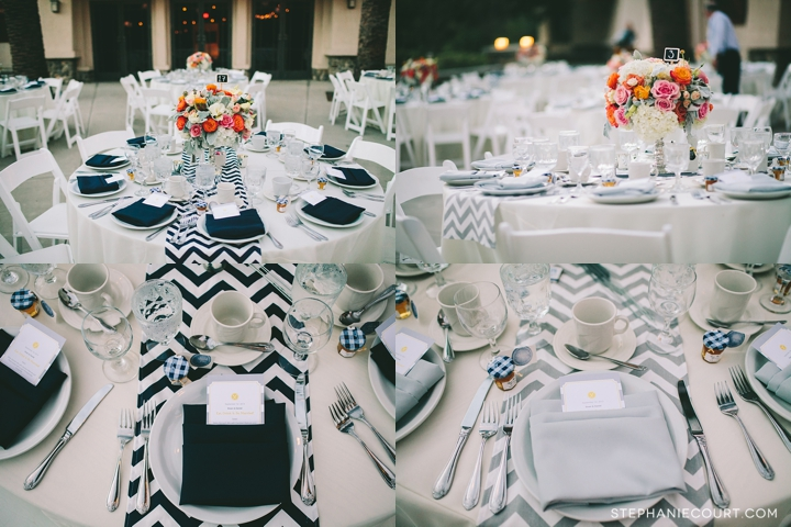 """navy and gray wedding centerpieces"""