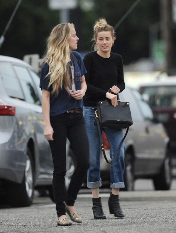 Amber Heard Whitney sister shopping