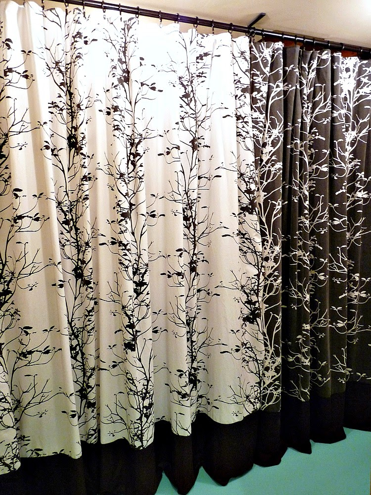 Turn Old Bedding into Curtains