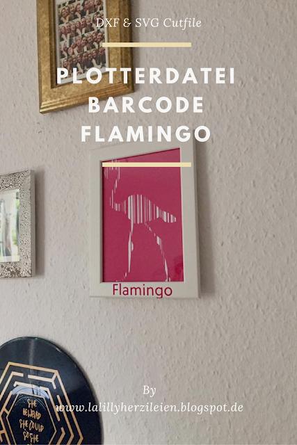 Der Flamnigo Barcode aus dem Set Barcode Animals 1 als Beispiel von Hellokittschy