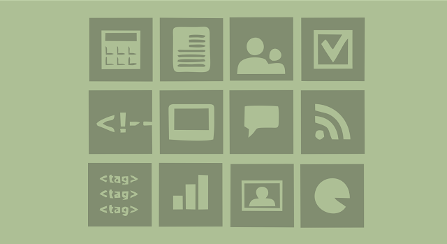 Flat Widget Icon