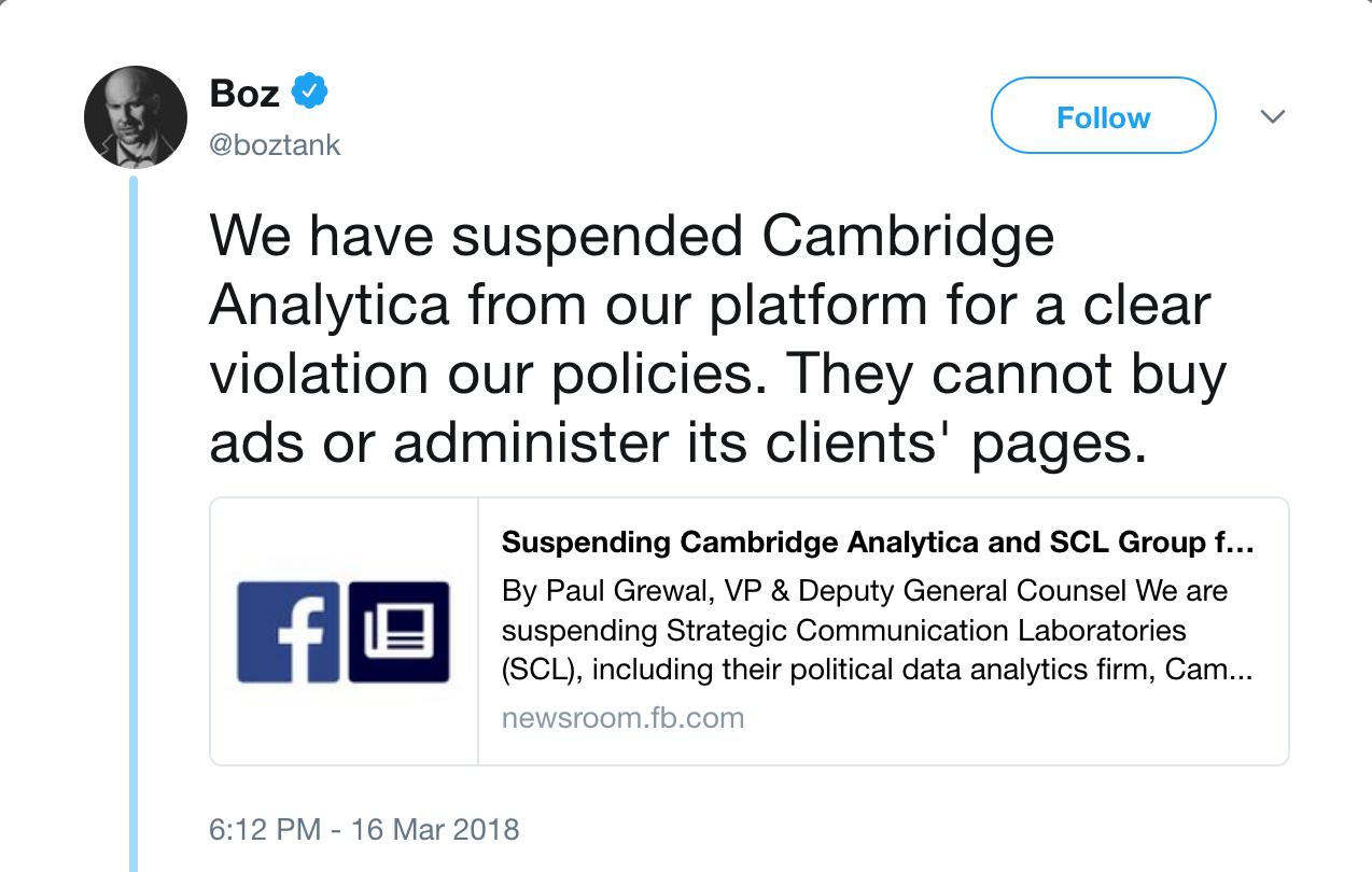Zelo Street: Cambridge Analytica SUSPENDED By Facebook
