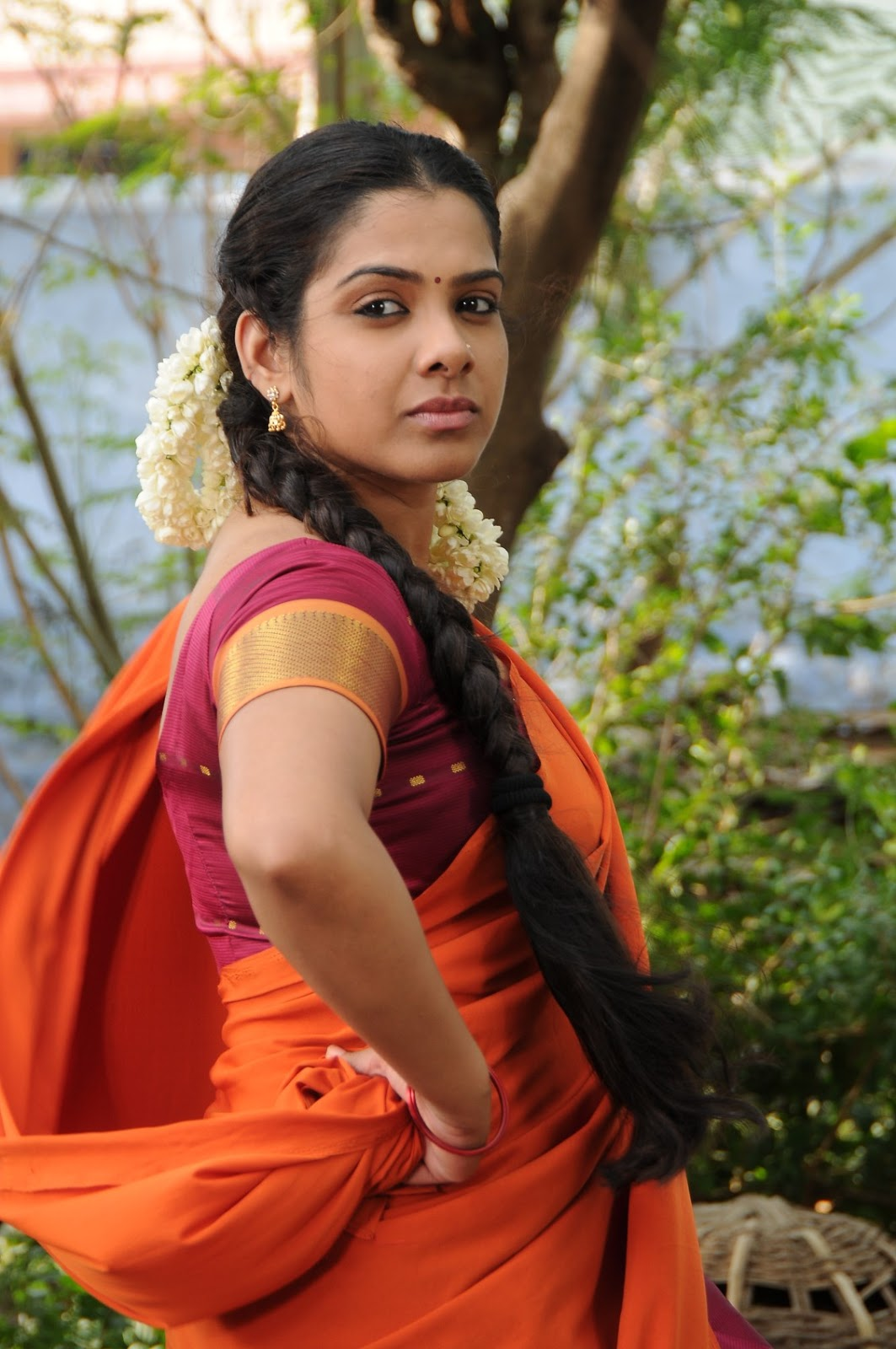 Sandhya Hot Half Saree Pictures  Sandhya Telugu Movie -2777