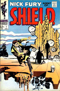 Nick Fury Agent of Shield v1 #7 marvel comic book cover art by Jim Steranko