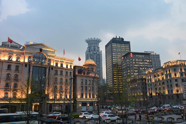 Au bord du Bund à Shanghai