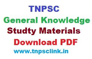 tnpsc GK study materials tamil