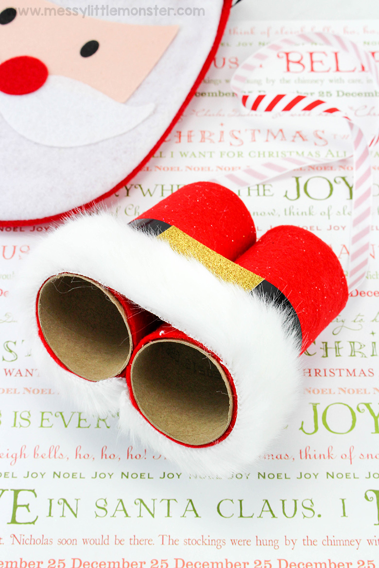 A fun christmas eve activity for kids - santa binoculars craft