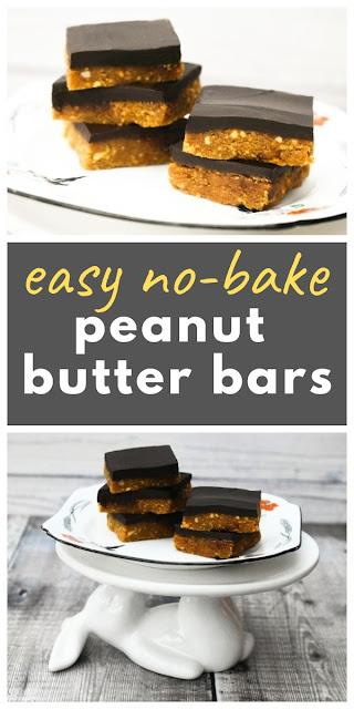 Easy no-bake peanut butter bars #peanutbutterbars #peanutbutterslices #nobakeslice #traybake #nobake #vegannobake #veganpeanutbutterslice #peanutbutter #chocolate #peanutbars #vegantreats #chocolatebars #nobakebars #traybakebars