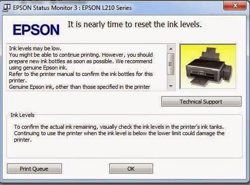 Cara Reset Manual Epson L210 Pusat Tutorial