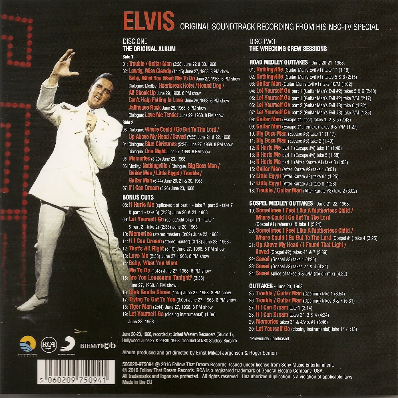 Elvis 68 Comeback Special The First Disc Includes Original Album Plus Expected Bonus Tracks 2 Contains Somewhat Disappointingly This