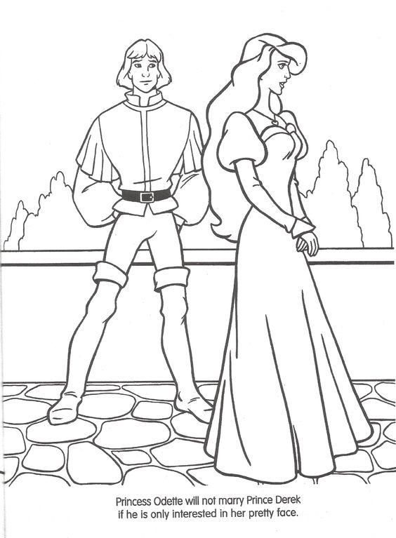 Tranh tô màu công chúa thiên nga 2