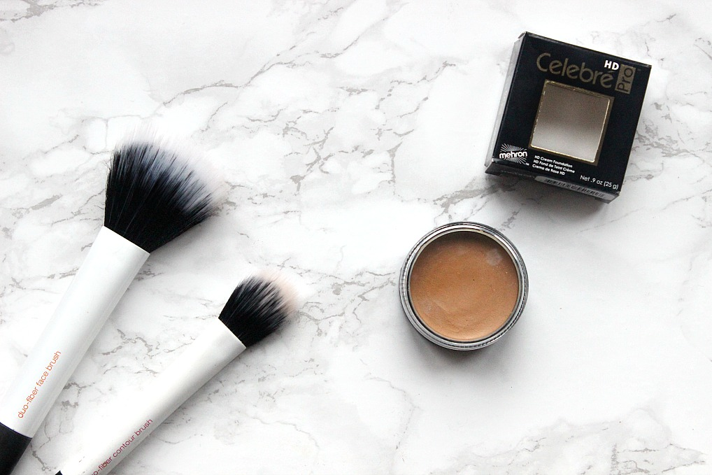 mehron HD foundation and real techniques brush sets duo fibre