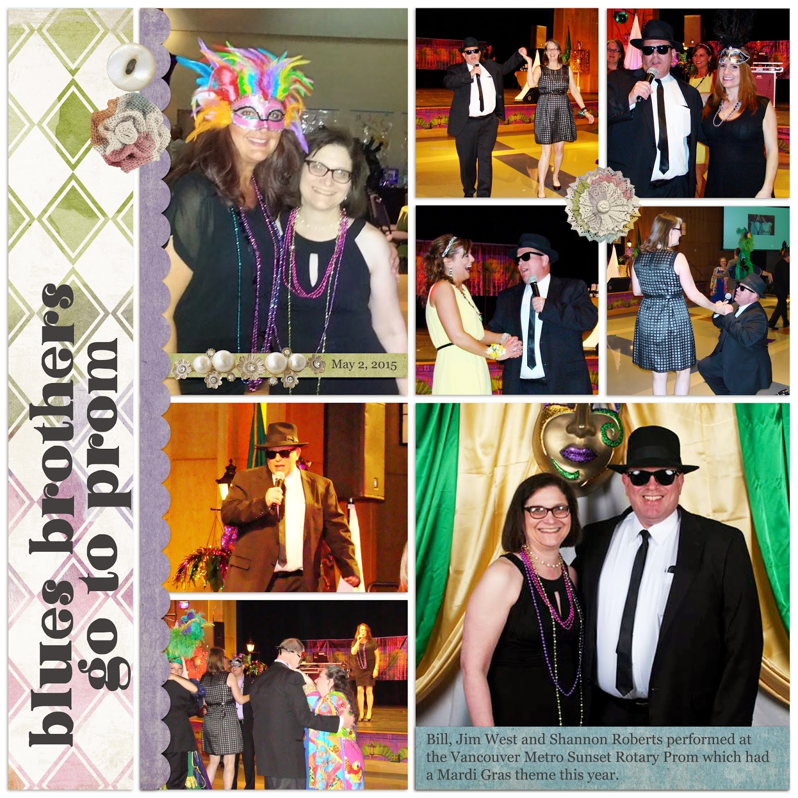 05fdb25be5e ... Roberts teamed up again to do some performing at the Vancouver Metro  Sunset Rotary Prom at Clark College. This year s prom had a Mardi Gras  theme.