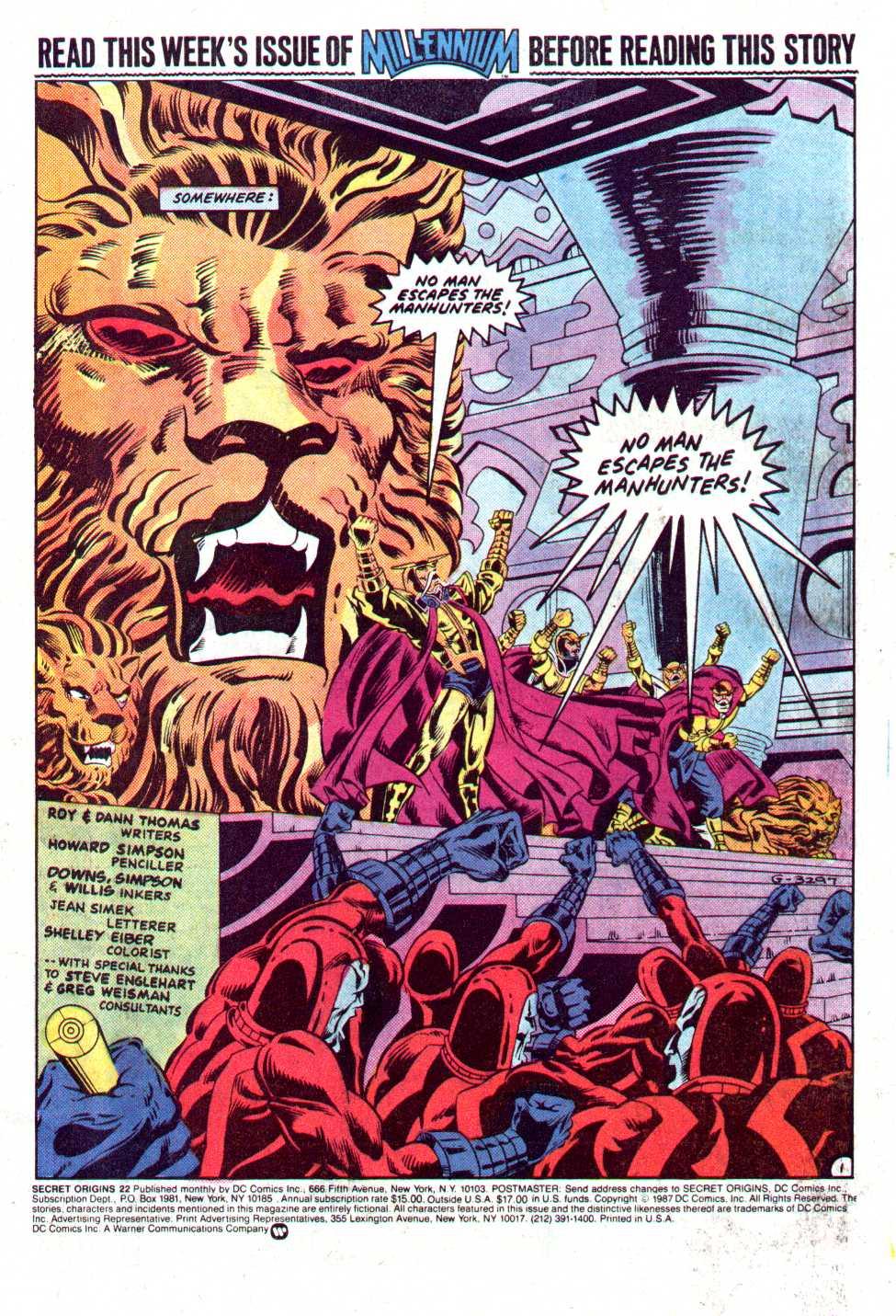 Read online Secret Origins (1986) comic -  Issue #22 - 2