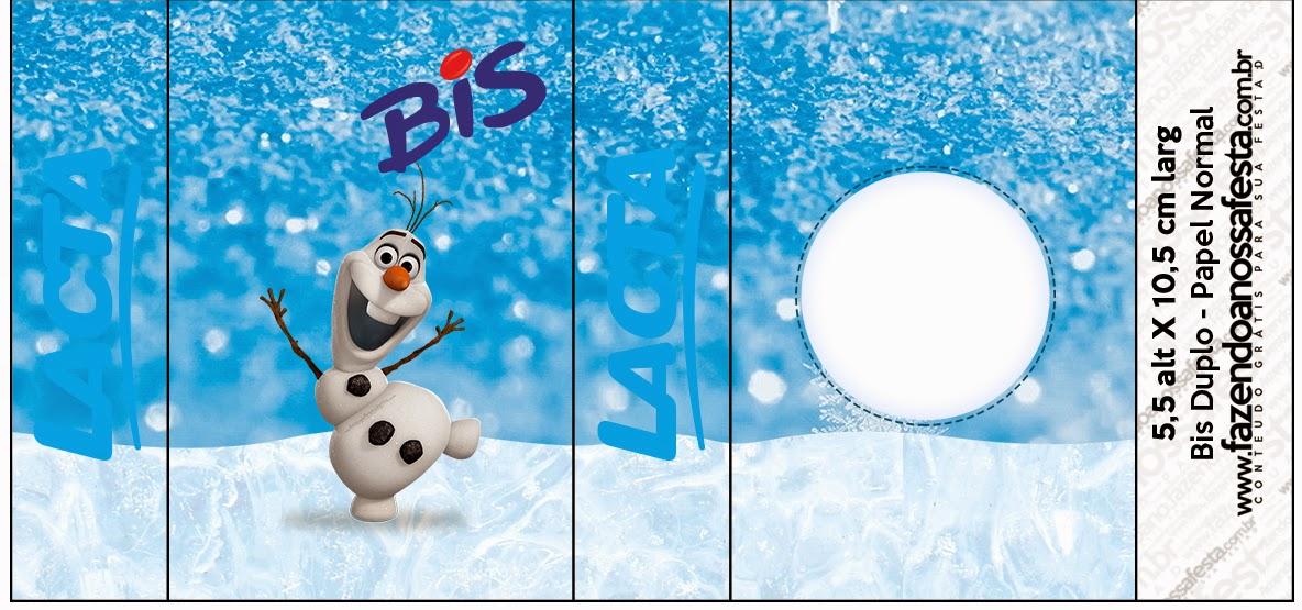 Etiquetas de Olaf para imprimir gratis.