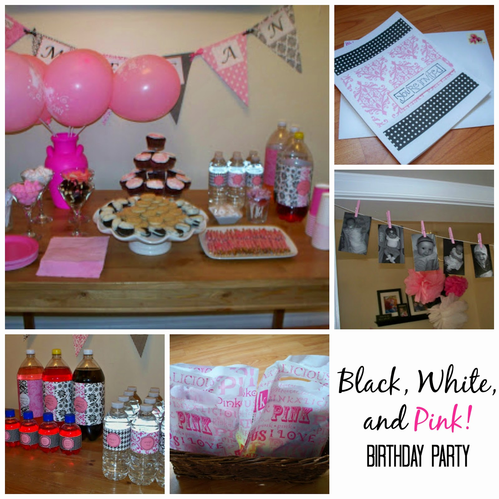 http://craftingandcreativity.blogspot.ca/2011/05/girls-1st-birthday-party-black-white.html