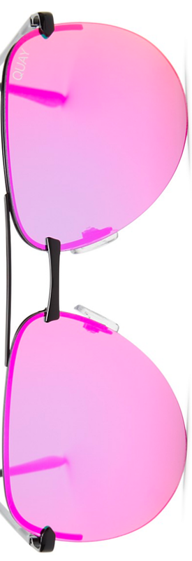 Quay The Playa Mirrored Aviator Sunglasses, 62mm
