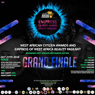 [Event]  WEST AFRICAN CITIZEN AWARDS AND EMPRESS OF WEST AFRICA BEAUTY PAGEANT GRAND FINALE