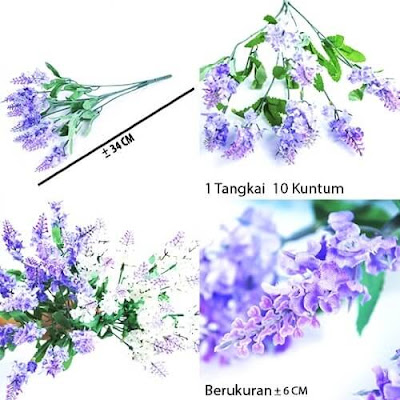 Bunga Plastik / Bunga Artificial Lavender (Seri 10K)