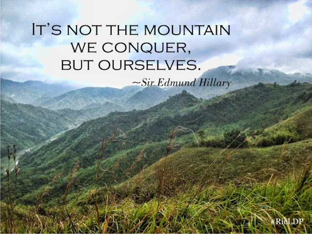 It's not the mountain we conquer