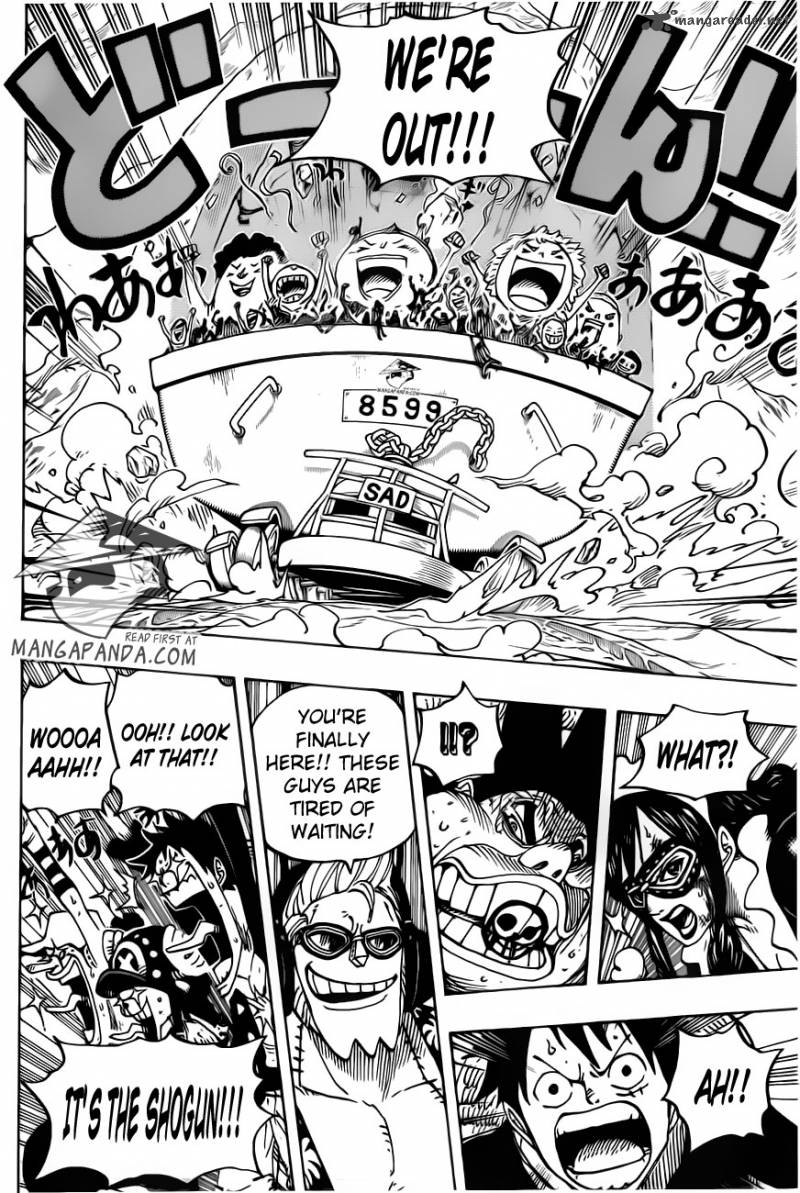 One Piece Ch 695: Leave it to me!!