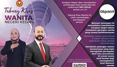 Permohonan Tabung Khas Wanita Negeri Kedah 2019