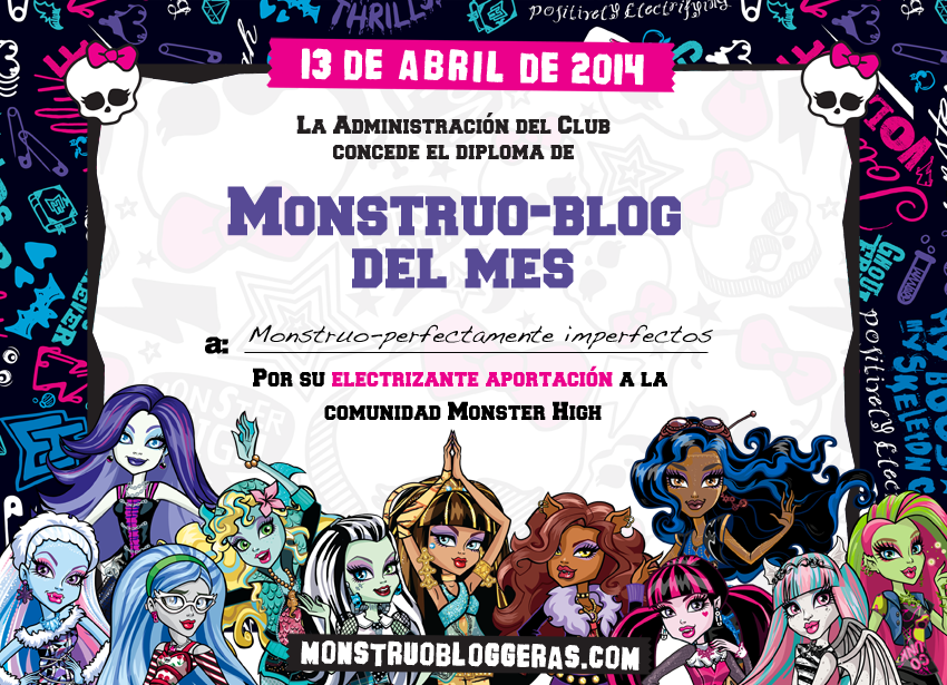 "¡Monstruo-Blog del Mes de ""Abril (2014)""!"