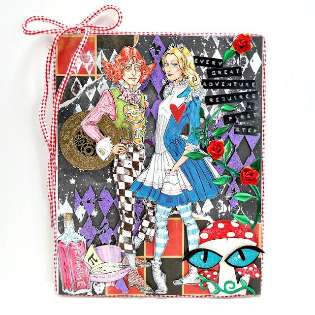 Great Adventure Alice in Wonderland Mixed Media Art Board