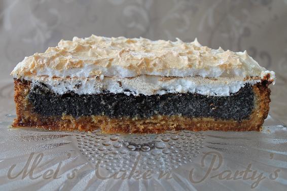 Mel S Cake N Party S Mohn Marzipan Baiser Torte