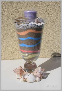 Świecznik z muszlami – Candlestick with shells