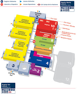 Mapa pabellones Fitur, Madrid, Ifema, vuelta al mundo, round the world, La vuelta al mundo de Asun y Ricardo, mundoporlibre.com