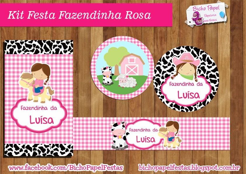 Kit Festa Fazendinha Rosa