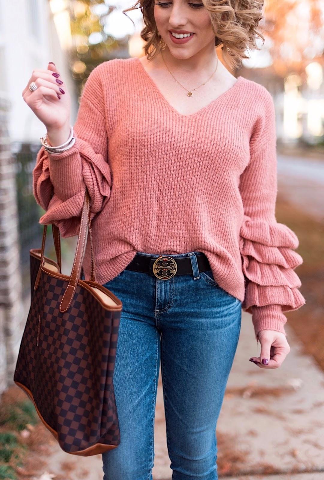 Tiered Ruffle Sleeve Sweater - Something Delightful Blog