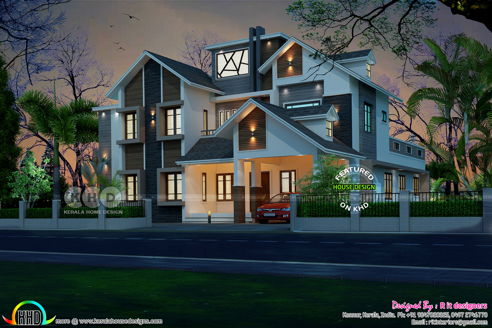 New Modern 5 Bedroom Mix Roof Home Kerala Home Design Bloglovin