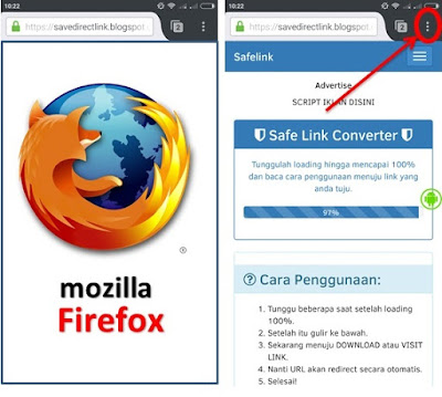 setting desktop site of mozilla firefox in android