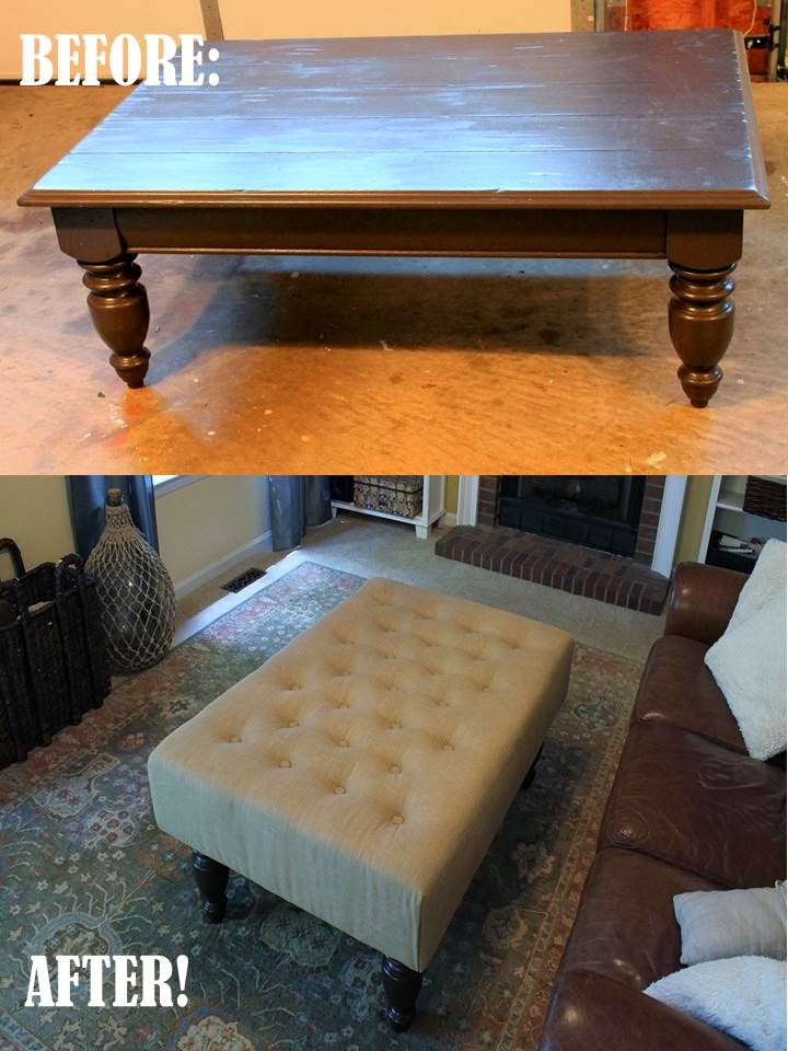 Diy Upholstered Ottoman Have You Even Been Given Something That Are Just Not Sure What To Do With For Us It Was This Coffee Table